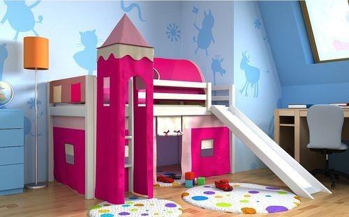 Letti A Soppalco Per Bambini Con Scivolo.Letto A Soppalco Per Camerette Vivaci E Colorati Per Bambini E