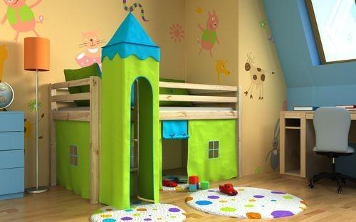 Letto a soppalco per camerette vivaci e colorati per bambini e ...