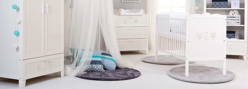 Cameretta per neonati decorata con gufi-Marcell