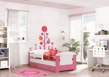Letto per bambini con vano contenitore , pink (80x160) – materasso in regalo– Filippo
