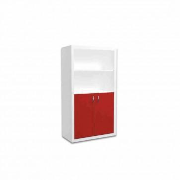 Libreria larga per la camera dei bambini (rosso) – Filippo