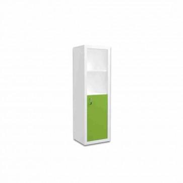 Libreria stretta per la camera dei bambini (verde) – Filippo
