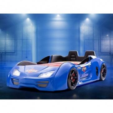 Grand Prix Enzo auto letto -blu, full, porta aperta  con sedili in pelle
