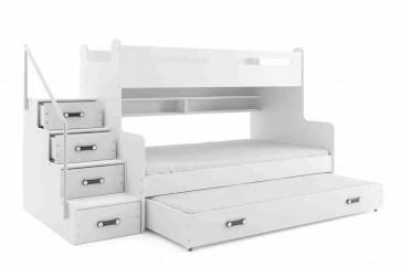 bianco letto a castello con letto per gli ospiti