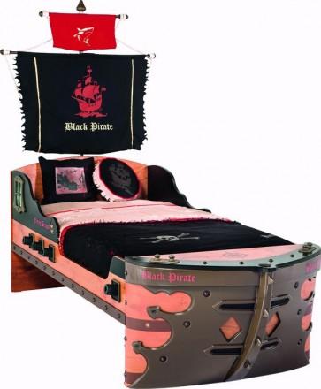 Letto S da pirata a forma di nave (90x190 cm)  - Pirate