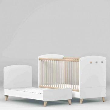 Lettino trasformabile-70x140 cm-Colette bianco