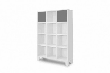 Ampio armadio con scaffali-Holly grigio