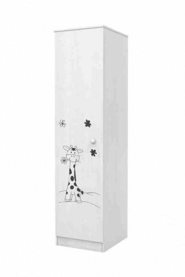Armadietto con un anta decorazione giraffa-Faktum mia bianco