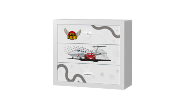 Cassettiera per bambini – Speed Cars