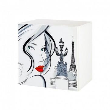 Pensile con motivo stampato-Top Paris