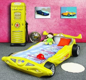 Letto Macchina Formula 1 F1 - giallo