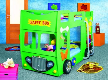 Letto Happy Bus - verde