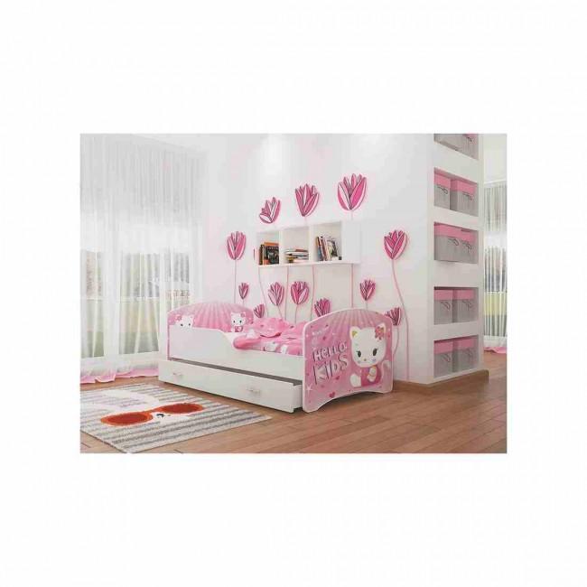 Letto per bambini con vano contenitore 80x160 materasso in regalo hello kids - Letto per bambini 160 80 ...
