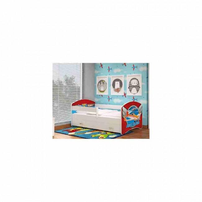 Letto per bambini con vano contenitore 80x160 materasso in regalo aeroplano - Letto per bambini 160 80 ...