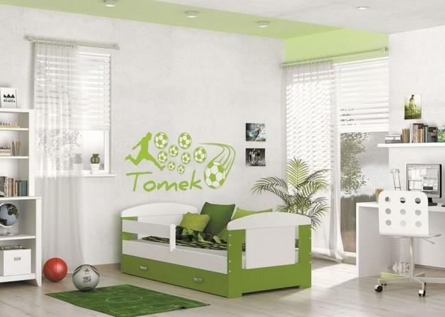 Letto per bambini con vano contenitore verde 80x160 materasso in regalo filippo - Letto per bambini 160 80 ...