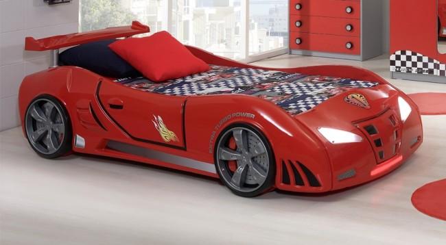 Letto A Forma Di Macchina Da Corsa : Grand prix extreme auto letto rosso standard