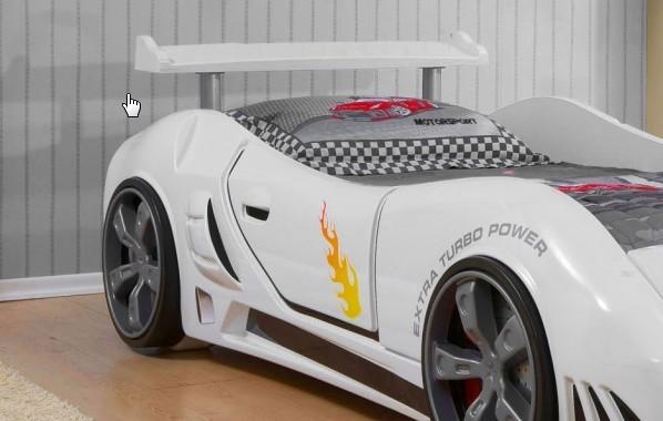 Grand prix extreme auto letto bianco full extra dettagni - Letto macchina per bambini ...