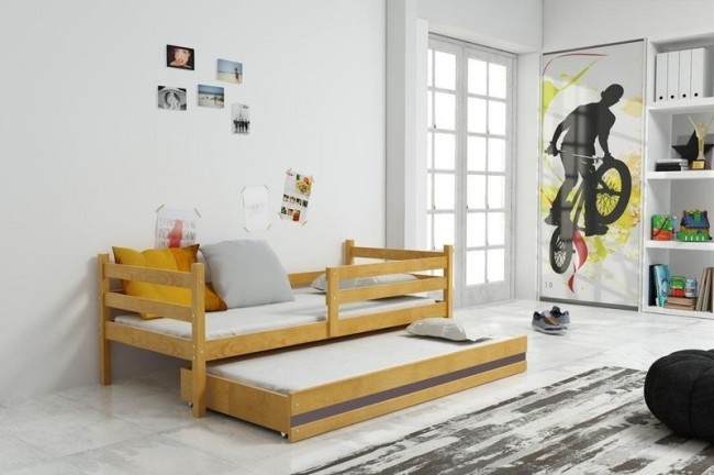 Letto per bambini con barriere e letto per gli ospiti in 4 for Letto per ospiti