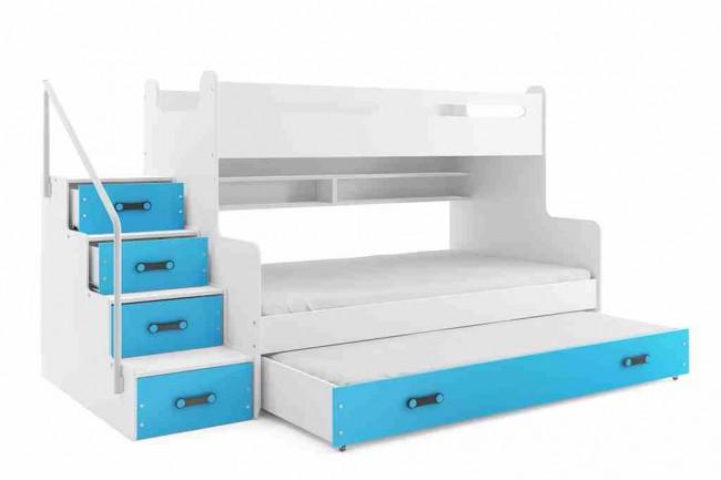 Letto a castello con letto per gli ospiti in 5 colori per for Letto per gli ospiti