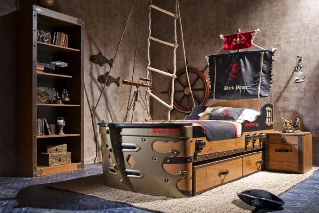 Letto A Forma Di Nave Pirata : Foto di letti a castello per bambini davvero originali