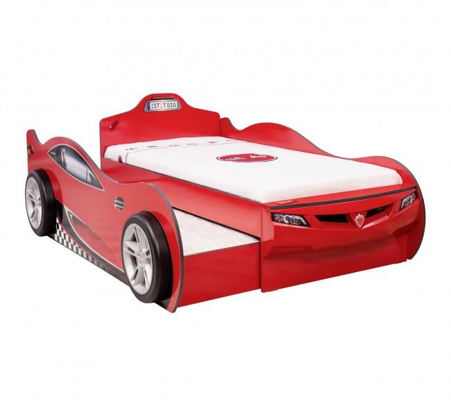 Letto A Forma Di Auto.Autoletto Coupe Con Letto Per Gli Ospiti Rosso 90x190 Cm