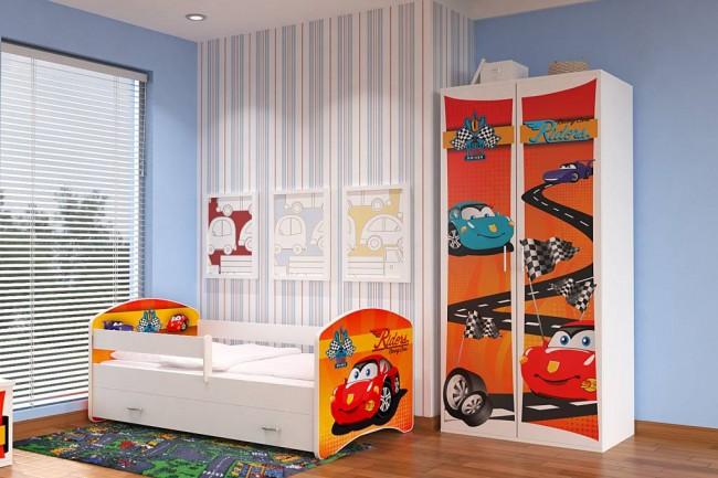 Letto per bambini con vano contenitore 80x160 materasso in regalo speed race - Letto per bambini 160 80 ...