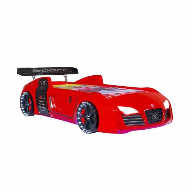 Letto A Forma Di Auto.Autoletto A Forma Di Audi Per Bambini Rosso Full Extra