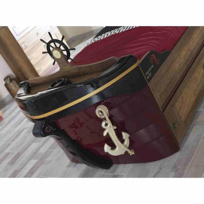 Letto pirate a forma di nave pirate barbanera - Letto a forma di peluche ...