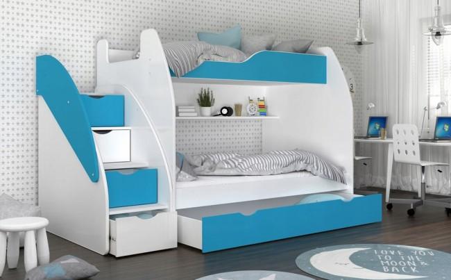 Letto A Castello Design.Letto A Castello Susanna 5 Colori 200x120 200x80cm
