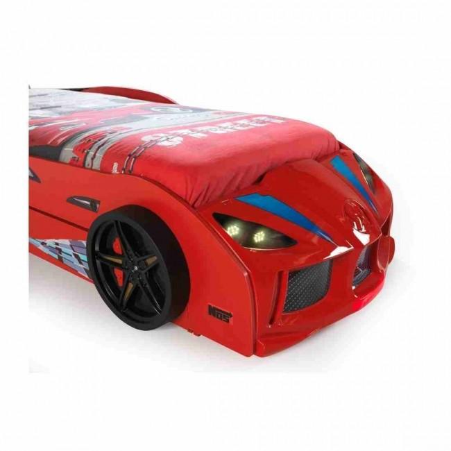Letto a forma di macchina con letto per gliospiti rosso gtr2 doppio - Letto a forma di peluche ...