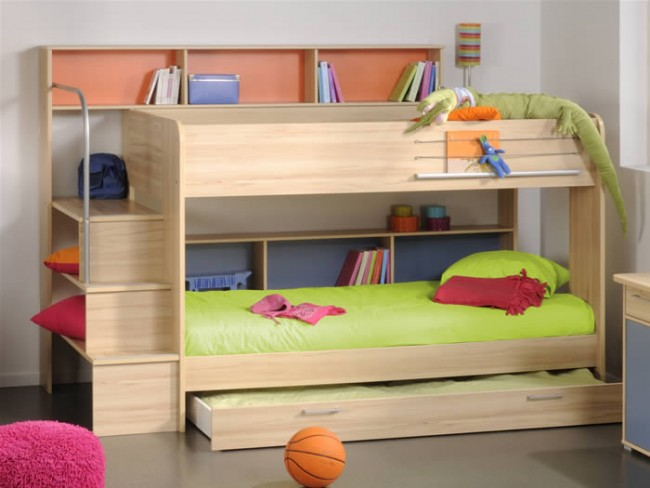 Letto A Castello Bambini : Cassettone per il letto a castello acacia u2013 parisot bibop