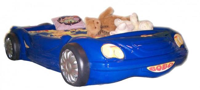 Letto macchina bobo blu e materasso a gratuito - Letto bambino macchina ...