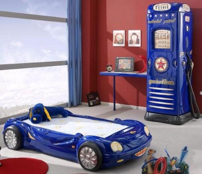 Letto macchina bobo blu e materasso a gratuito - Letto bimbo auto ...