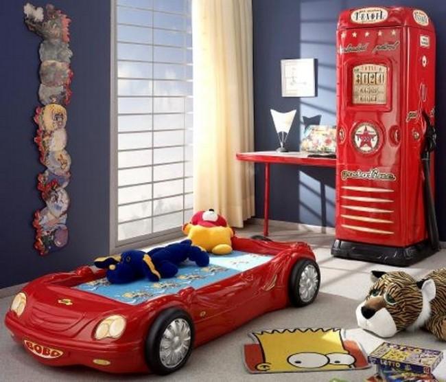 Letto macchina bobo rosso e materasso a gratuito - Letto bambino macchina ...
