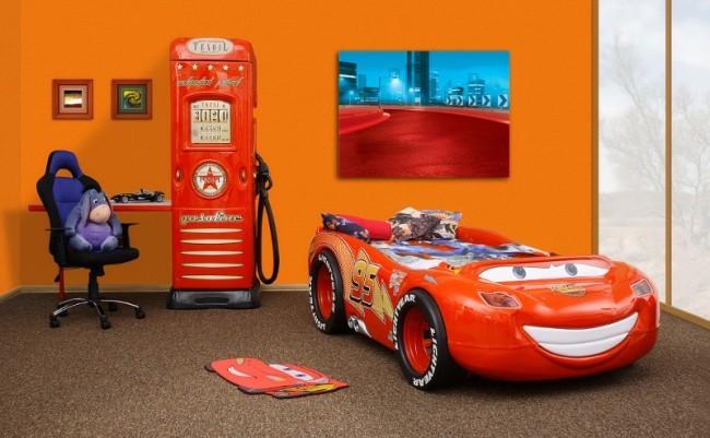 Letto A Forma Di Automobile : Letto a tema cars saetta mcqueen a formuła di auto abs e