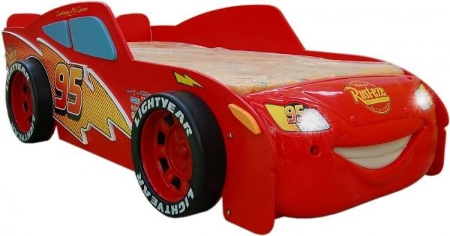 Letto Di Cars.Letto A Tema Cars 2 Saetta Mcqueen A Formula 1 Di Auto Mdf E Materasso A Gratuito