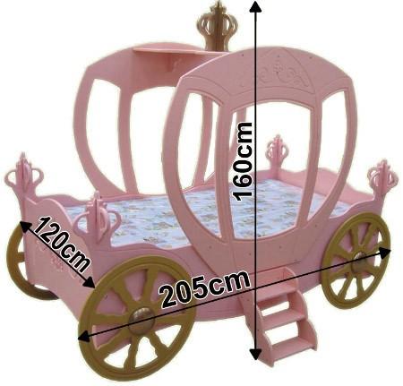 letto a forma di carrozza - e materasso a gratuito - Letto Carrozza Disney