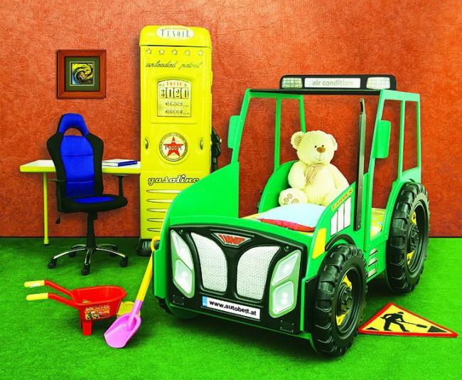 Letto Castello Trattore : Letto trattore verde e materasso a gratuito