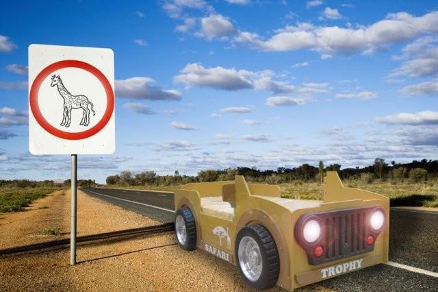 Letti Vintage Bambini : Letto safari jeep e materasso a gratuito
