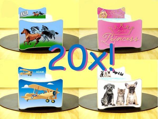 Smb lettini con figure 180x90 con cassapanca e materasso for Cassapanca x bambini