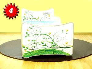 Smb lettini con figure 140x70 con cassapanca e materasso for Cassapanca x bambini