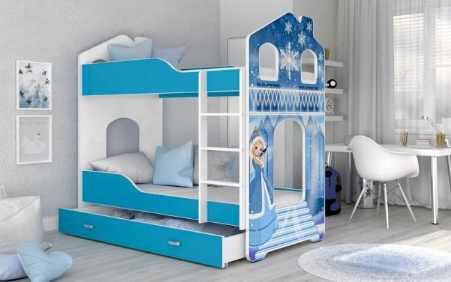 Letti A Castello Per Neonati.Letto A Castello Per Bambini Domenico 180x80 Cm