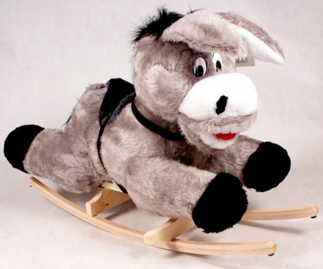 Cavallo A Dondolo In Peluche.Dondolo Peluche D Asinello