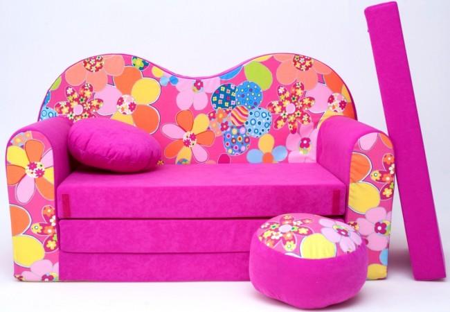 Divano Per Bambini.Cuscino Rotondo In Colore Del Divano Pouf Rotondo Pink