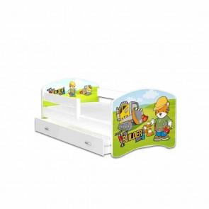 Letto per bambini con vano contenitore (80x160) – materasso in regalo – Costruttivo