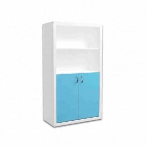 Libreria larga per la camera dei bambini (blu) – Filippo