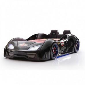 Grand Prix Enzo auto letto - nero, full, porta aperta  con sedili in pelle