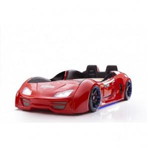 Grand Prix Enzo auto letto -rosso, full, porta aperta  con sedili in pelle