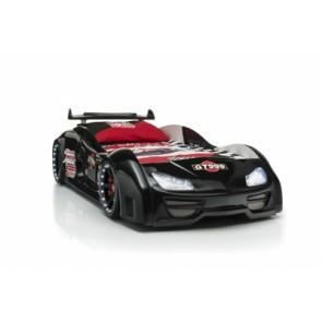 Grand Prix Enzo auto letto - nero, full - porta aperta - con regalo di divano