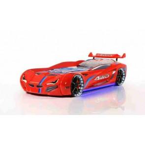 Letto a forma di macchina rosso – Gran Coupe